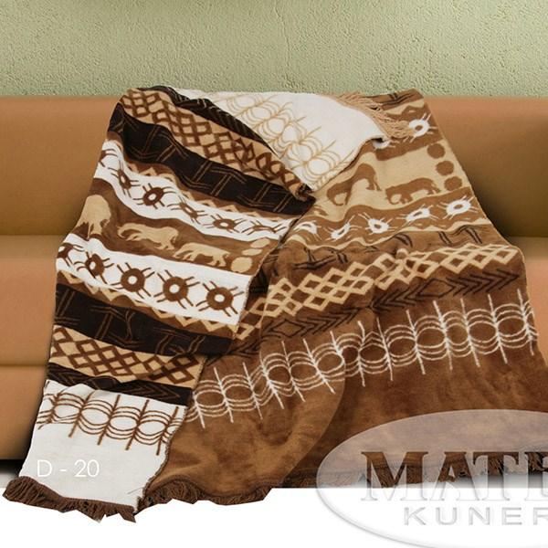 Bavlněná deka Erniko hnědá