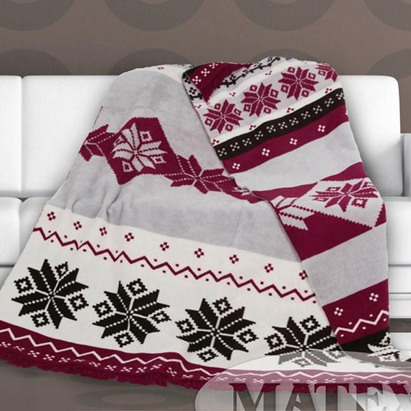 Bavlněná deka Matteo bordó