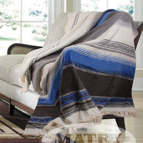 Bavlněná deka Salvador modrá