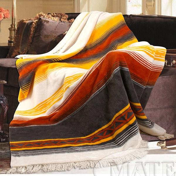 Bavlněná deka Salvador oranžová