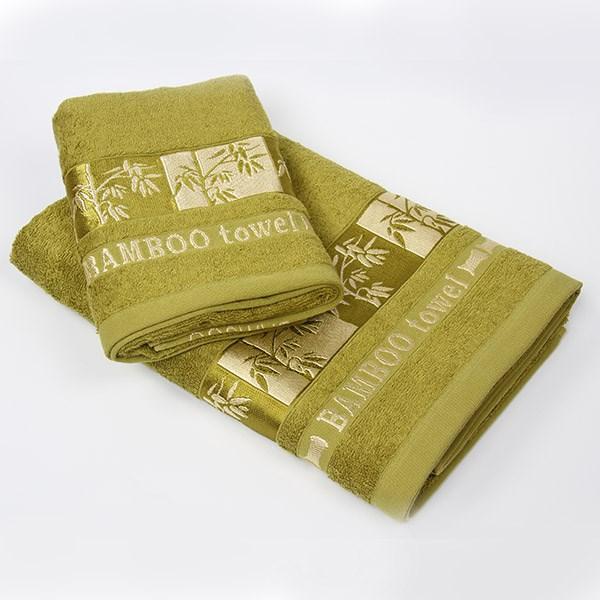 Bambusová osuška Gold zelená