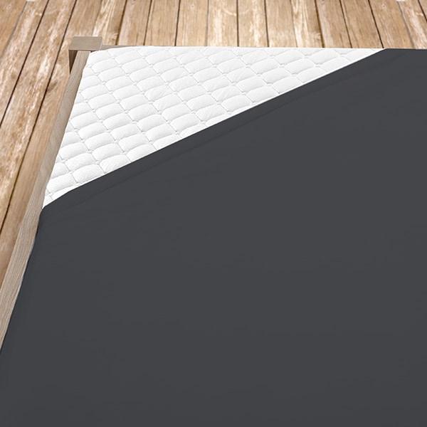 Tmavě šedé bambusové prostěradlo