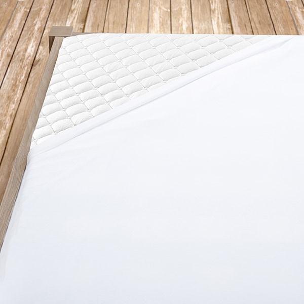 Bílé jersey prostěradlo