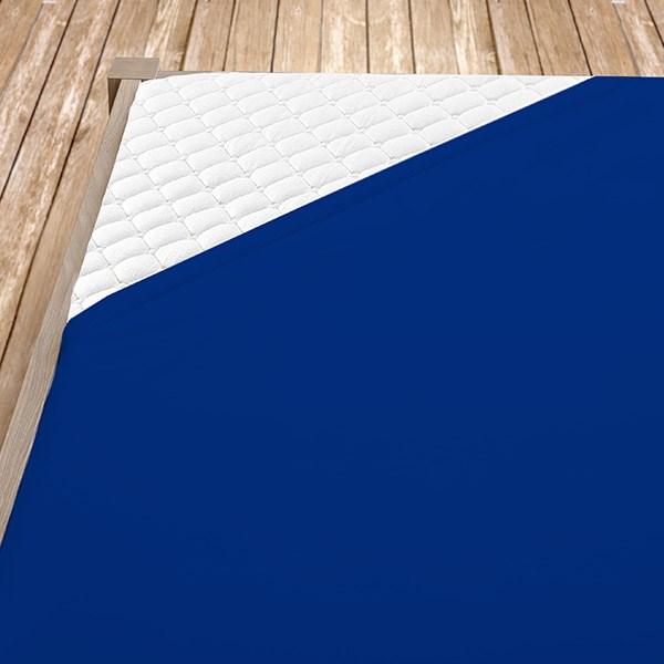 Tmavě modré jersey prostěradlo