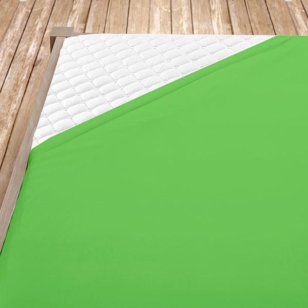 Zelené jersey prostěradlo