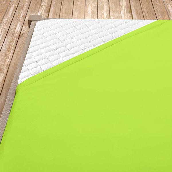 Zelenožluté jersey prostěradlo