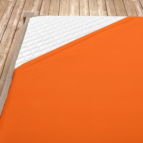 Oranžové prostěradlo s gumou