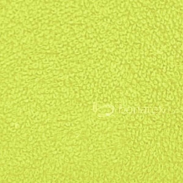 Žlutozelené froté prostěradlo