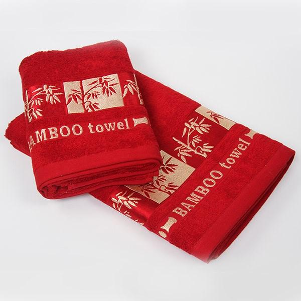 Bambusový ručník Gold bordó
