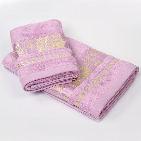 Bambusový ručník Gold fialový
