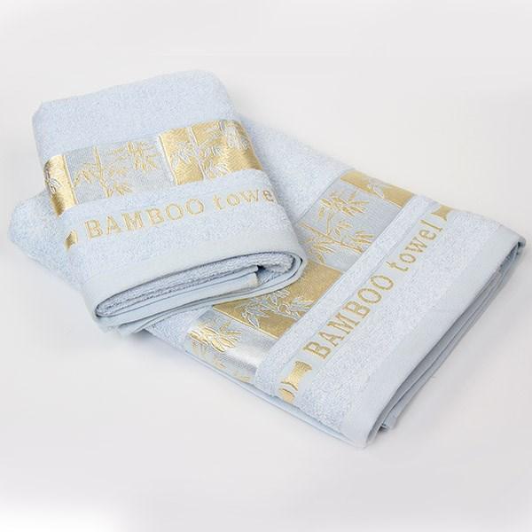 Bambusový ručník Gold světle modrý